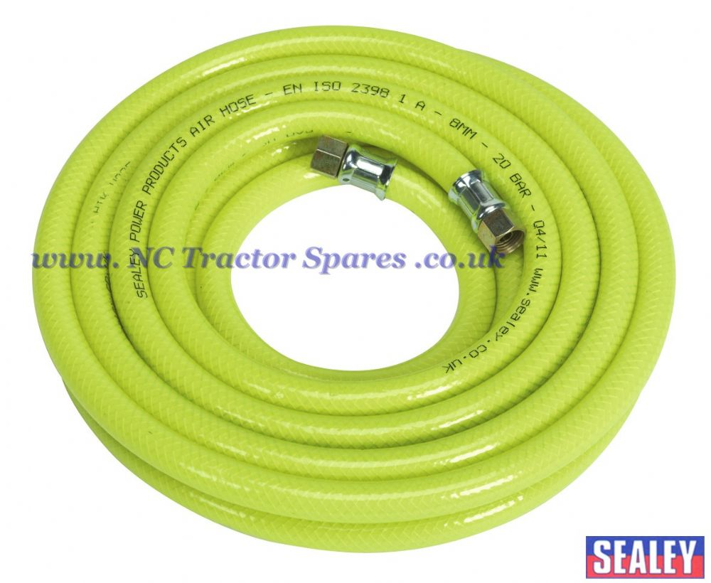 "Air Hose High Visibility 5mtr x 8mm with 1/4""BSP Unions"